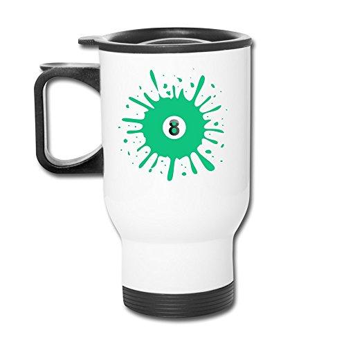 Number Eight Aluminum White Travel Mug, 12 Ounces