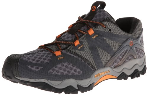 Merrell Men's Grassbow Air Trail Running Shoe,Dark Grey/Orange,11.5 M US