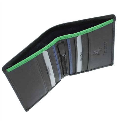 Green BD14 Bond Black Visconti Cobalt Gents Wallet Leather 'JAMES' Collection zwH4Uwq