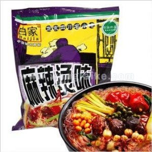 Sichuan Baijia Instant Sweat Potato Thread/Noodle Hot Spicy Flavor 3.70 Oz (Pack of 8)