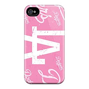 Apple Iphone 4/4s TDn28867Vilt Customized Fashion Los Angeles Dodgers Series Protective Cell-phone Hard Cover -JohnPrimeauMaurice