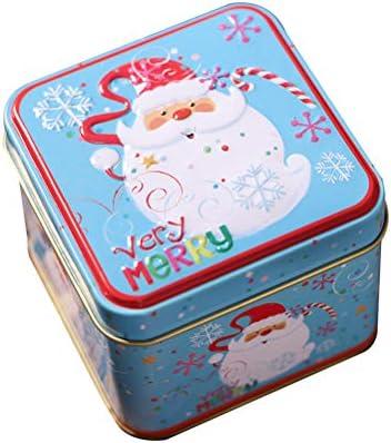 Sarplle Cajas de Galletas Navidad Caja de Galletas metálica pequeña de Lata Muñeco de Nieve Papá Noel Caja de Almacenamiento Grande con Tapa para Dulces, Galletas, Galletas: Amazon.es: Hogar