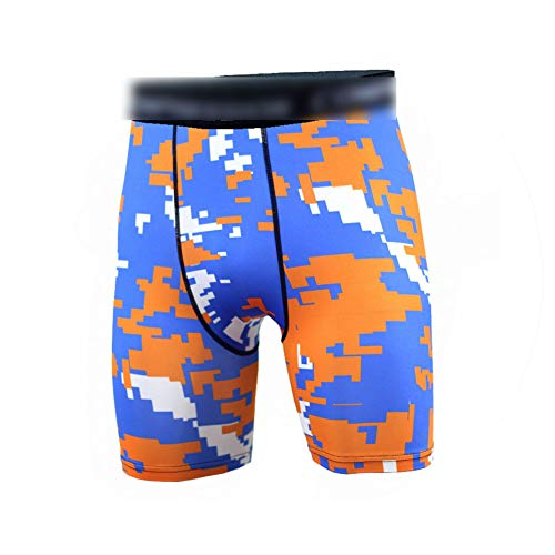 Mens Crossfit Camouflage Tight Shorts Running Training Compression Jogging Fitness Workout Bermuda ()