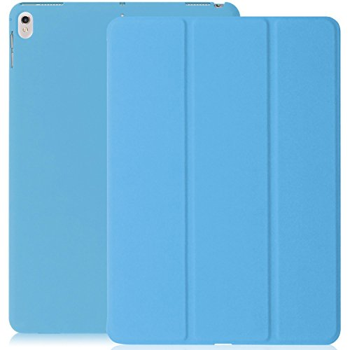 KHOMO iPad Pro 10.5 Inch & iPad Air 10.5 Inch (3rd Generation, 2019) Case - Dual Blue Super Slim Cover with Rubberized Back and Smart Feature