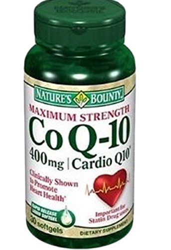 Nature's Bounty Cardio Q10, Co Q-10 400 mg Softgels 30 ea (Pack of 5) by Nature's Bounty