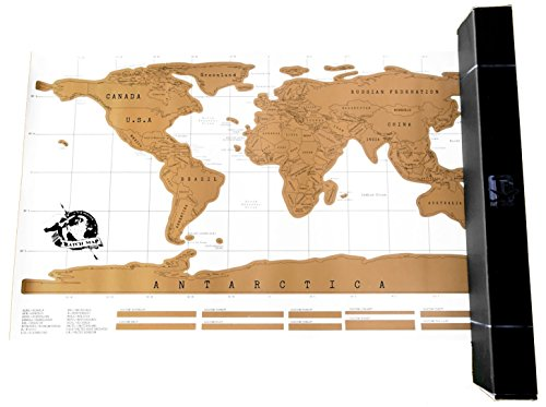 Scratch Off Map - Best World Map Poster - Share Your Travel Stories by Travel Inspired