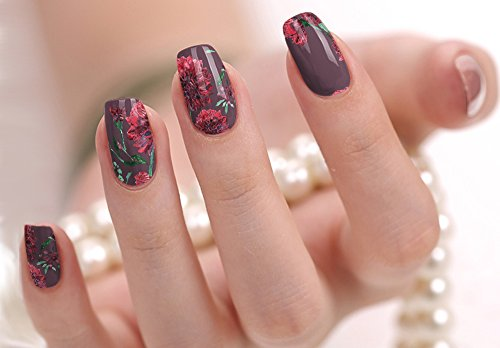 Nail Polish Art Strips 18 Wraps Decal DIY Manicure Pedicure Flower Design Pattern Wedding Bachelorette Prom Party from Lotusby