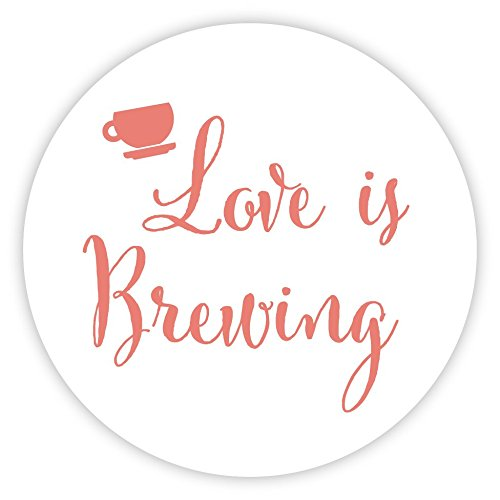 Love Is Brewing Wedding Stickers, Favors for Tea, Coffee or Beer (#095-CR)