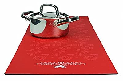 Trivetrunner :Decorative Trivet and Kitchen Table Runners Handles Heat Up to 300F, Anti Slip, Hand Washable, and Convenient for Hot Dishes and Pots,Hand Washable
