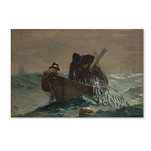 The Herring Net by Homer, 22x32-Inch Canvas Wall Art