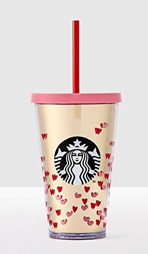 Schön 2017 Starbucks Valentines Day Tiny Hearts Cold Cup 16 Oz