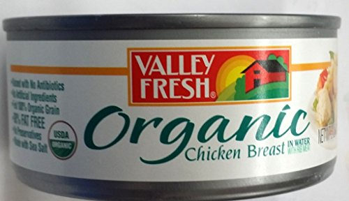 Valley Fresh Organic Chicken Breast in Water 5 Oz (Pack of (Fresh Chicken)