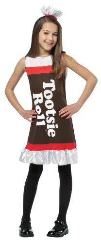 BUYSEASONS Tootsie Roll Ruffle Dress Child Costume ()