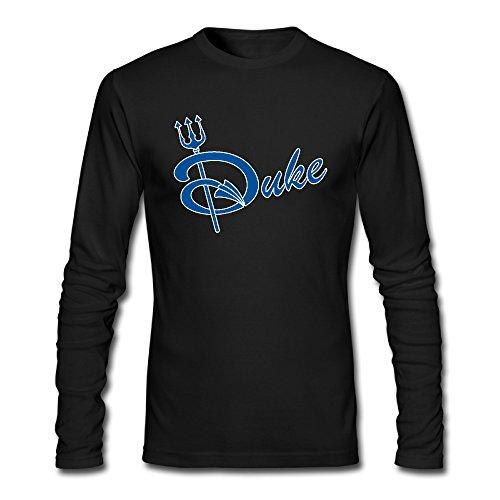Men's Duke Blue Devils Fork Weapon Logo Long Sleeves Tshirt Black