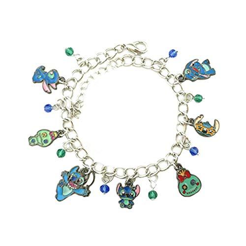 (Outlander Disney's Stitch Scrump Charm Bracelet Movie Series Jewelry Multi Charms - Wristlet Gear Movie Collection)