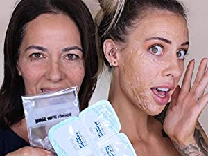 Skin1004 Zombie Pack (set of 8 treatments) - Wash-off Face Mask for Aging Skin, Fine Lines/Wrinkles, Enlarged Pores, Dryness, Lifting and Hydrating (Tamaño: 1 box (8 masks))