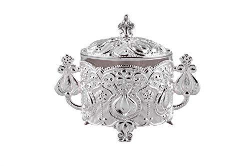 - Luxury Tulip Sugar Pot with Spoon (Silver)