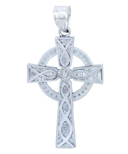 925 Sterling Silver Trinity Cross Pendant (Womens Trinity Cross)