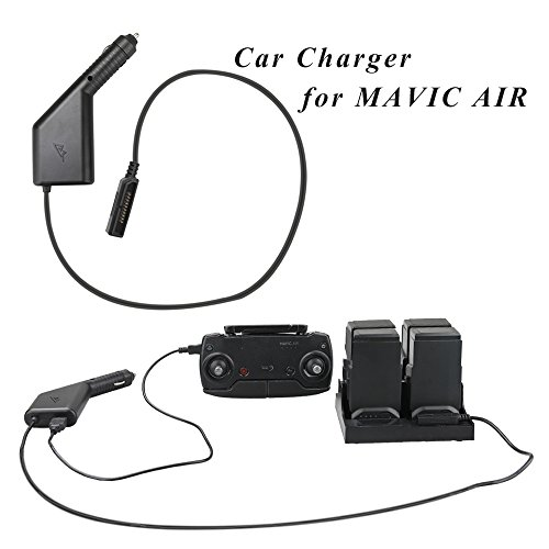 Price comparison product image RCstyle DJI Mavic Air Car Charger Adapter Intelligent Dual Charger Fast Charge 4 Battery and 1 Transmitter(USB Port) for DJI Mavic Air Original Chargi
