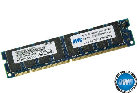 - OWC 512MB PC133 CL3 3-2-2/PC100 CL2 2-2-2 168 Pin SDRam for Power Mac G4 Models 350-1GHz, G4 Cube, iMac 350MHz to 700MHz, eMac 700MHz to 1GHz Model OWC133SD512328