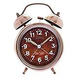 GIGA Vintage Twin Bells Alarm Clock (Bronze, 1xAA)