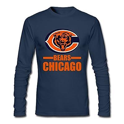 Goaki Chicago Bear Men 100% Cotton Long Sleeve T-Shirt Navy