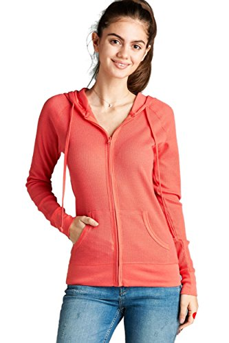 ViiViiKay Womens Casual Warm Thin Thermal Knitted Solid Zip-Up Hoodie Jacket – DiZiSports Store