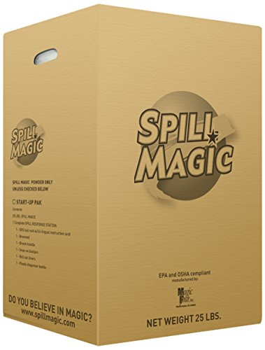(Spill Magic SM103 Liquid Spill Pick-Up Absorbent Powder, 25 lb. Box)