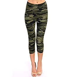 Print Brushed Ultra Soft Cropped Capri Leggings Regular and Plus (Sizes XS - 2XL) Listing 1