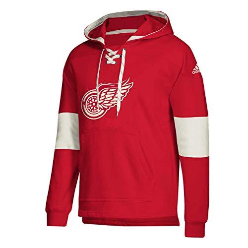 adidas Detroit Red Wings Hoodie Pullover Vintage Jersey Hood (Large)
