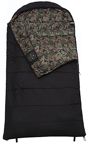 The Colossal Winter Double Sleeping Bag-XXXL Hooded Sleeping Bag for Couples – Perfect for Camping, Backpacking. Temperature Range 20-50 F. Fits Adults up to 7 1. Ripstop Water Resistant Shell