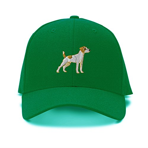 Jack Russell Terrier Embroidery (Jack Russell Terrier Embroidery Adjustable Structured Baseball Hat Kelly Green)