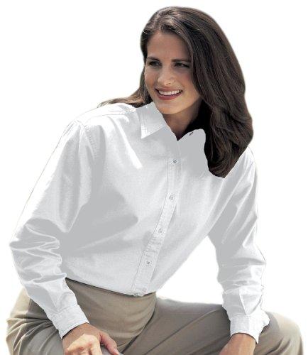 Tri-Mountain Women's Cotton Twill Shirt_White_XXX-Large
