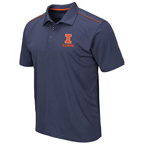 - Mens Illinois Fighting Illini Eagle Short Sleeve Polo Shirt - 2XL