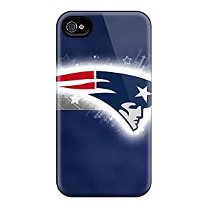 Great Hard Phone Covers For Iphone 4/4s With Allow Personal Design Colorful New England Patriots Skin TimeaJoyce