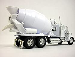 Kenworth W900 Cement Truck 1/32 Scale Diecast Metal and Plastic Model - WHITE from NewRay