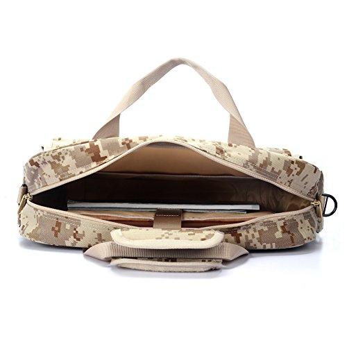 YAKEDA taktischen Briefcase Outdoor 15,6 Laptop-Tasche Multifunktions-Handtaschen Aktentasche camouflage-DN011(Three sand camouflage) Three sand camouflage