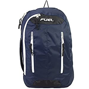Fuel Universal Single Strap Crossbody, Navy Blue with White