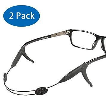 [Paquete de 2] Retenedor de gafas ajustable con soporte antideslizante, YYSHUI Soporte de tiras de gafas ...