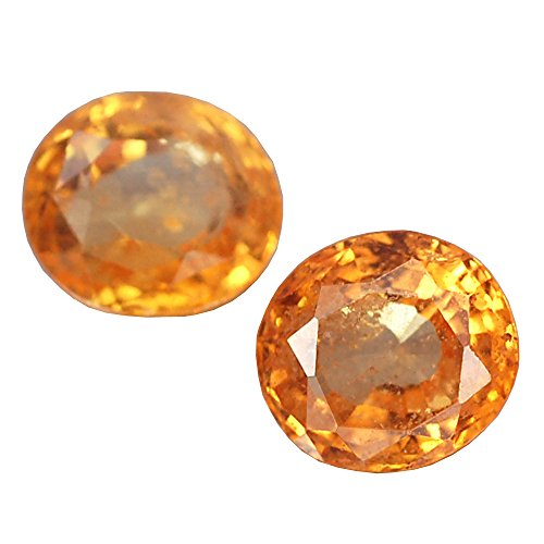 4.10CT GORGEOUS AA PAIR OVAL YELLOW HEATED ONLY CEYLON (Heated Yellow Sapphire)