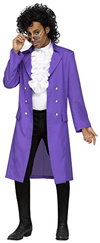 Rocker Costume Ideas (Purple Pain 80s Pop Star Adult Costume)