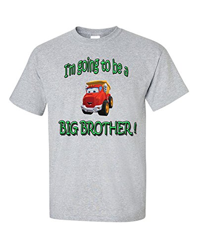 I'm going to be a BIG BROTHER ! Short Sleeve Tee T Shirt, 100% Cotton, Organic Ink (3T, -