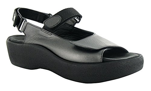 Wolky Metallic Womens Anthracite Leather Soft Jewel Sandals Leather r7rAnwfqaZ