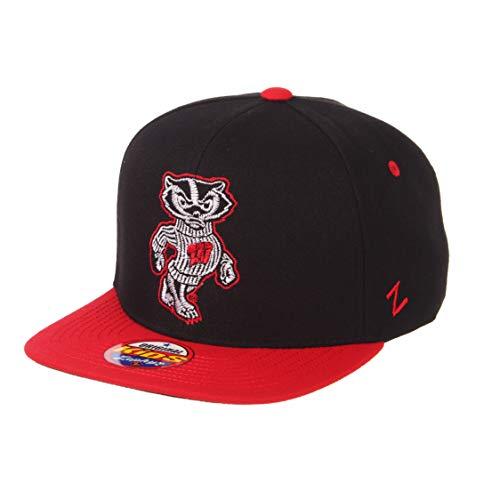 (ZHATS NCAA Wisconsin Badgers Boys Halftime Kid's Hat, Youth Adjustable, Black)