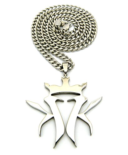 Crescendo SJ INC New Kottonmouth Kings Pendant &5mm/24 Cuban Link Chain Necklace RC507CCR (Kottonmouth Kings Chain)