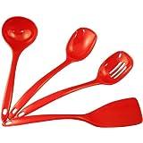 Calypso Basics Utensil Set of 4, Red