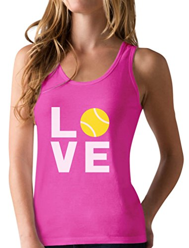 - TeeStars - Love Tennis - Gift Idea for Tennis Fans Cool Racerback Tank Top Medium Berry