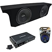2007-2015 Jeep Wrangler JK Unlimited Rockford Prime R1S410 Dual 10 Sub Box Enclosure & R250X1 Amp