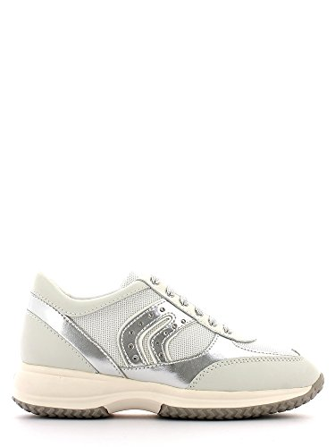 Geox , Damen Sneaker weiß White/Silver