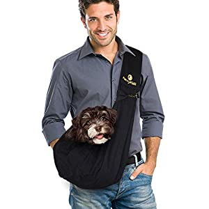FurryFido Reversible Pet Sling Carrier for Cats Dogs up to 13+ lbs 113